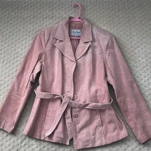 Wilsons Leather - pink suede jacket, size L